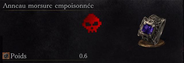 Guide Dark Souls III - Tous les anneaux morsure empoisonnée