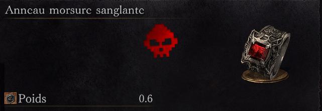 Guide Dark Souls III - Tous les anneaux anneau morsure sanglante