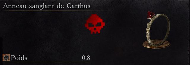 Guide Dark Souls III - Tous les anneaux anneau sanglant de carthus