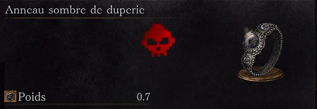 Guide Dark Souls III - Tous les anneaux anneau sombre de duperie