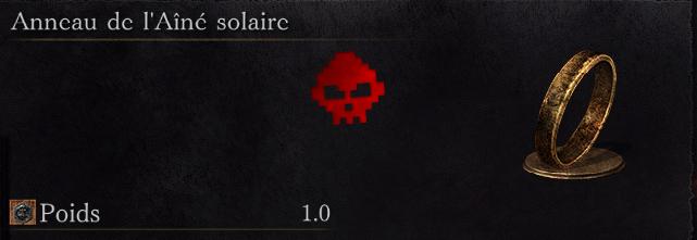 Guide Dark Souls III - Tous les anneaux aîné solaire