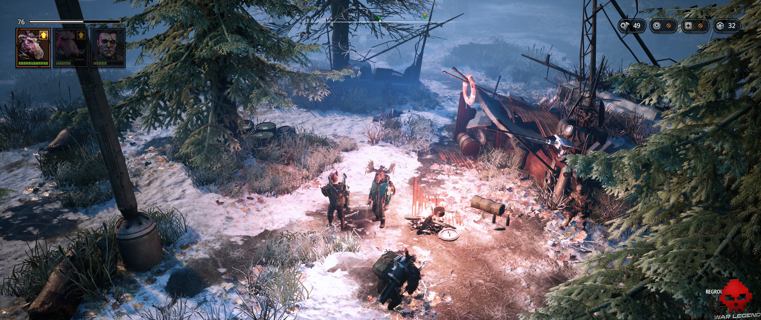 mutant year zero: seed of evil - groupe avec Big Khan l'élan