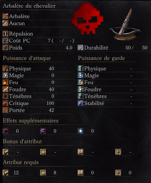Arbalète du Chevalier