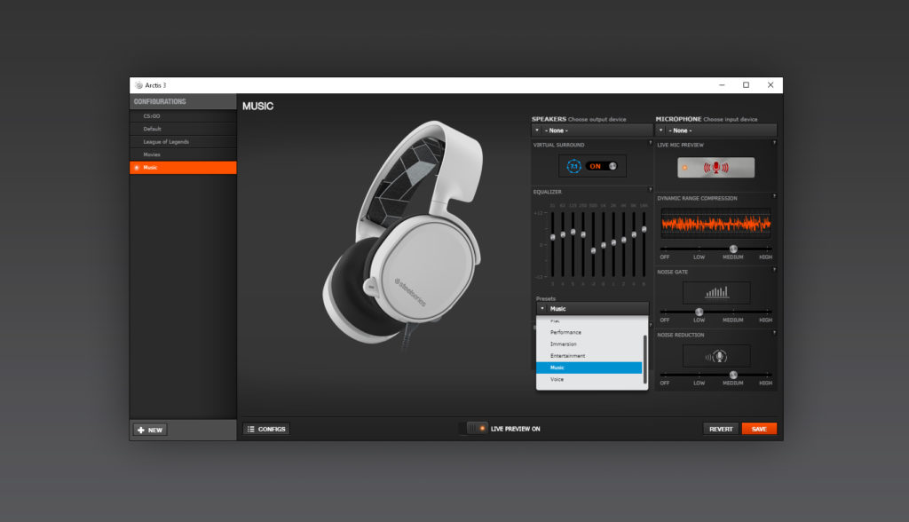 Test SteelSeries Arctis 3 logiciel