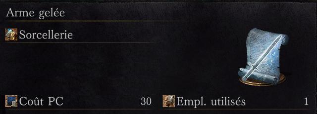 Dark Souls 3: Ashes of Ariandel - Tous les sorts arme gelée