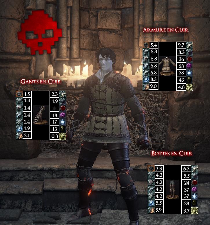 Armure en Cuir Dark Souls III WAR LEGEND copie