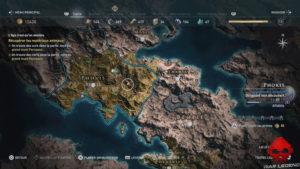Guide débutant Assassin's Creed Odyssey - Carte du monde