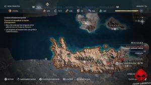 Guide trophées assassin's creed odyssey - Carte Messara
