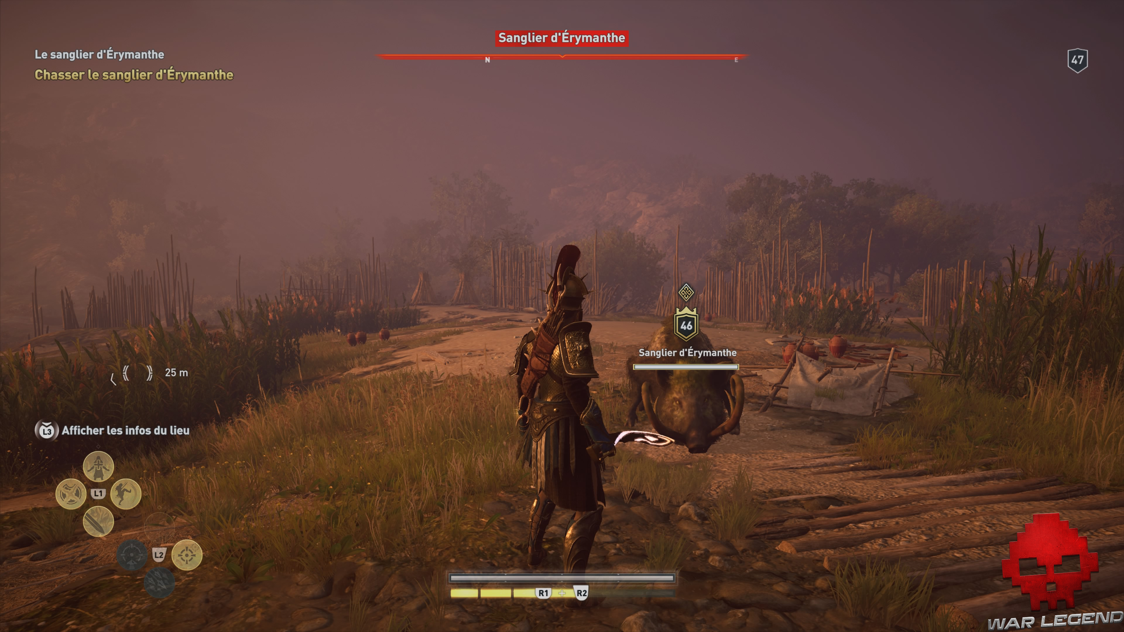 Guide bêtes mythiques assassin's creed odyssey sanglier d'erymanthe emplacement