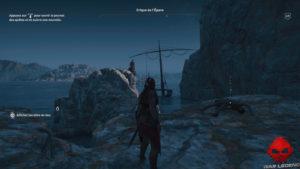Guide adeptes culte de Kosmos assassin's creed Odyssey - cadavre devant épave