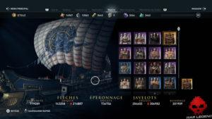 Guide Assassin's Creed Odyssey - Tous les cosmétiques de navire - équipages