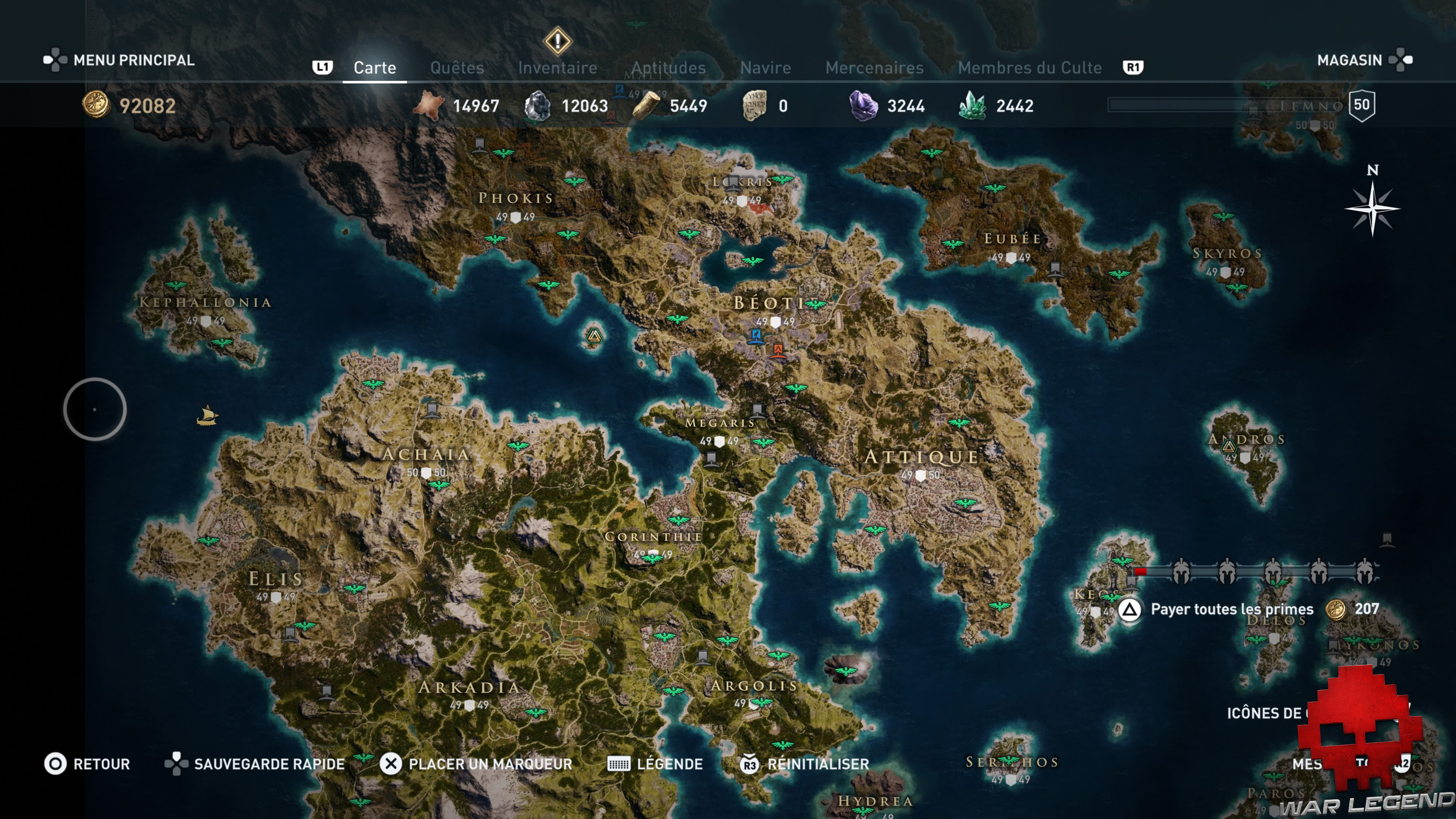 Guide assassin's creed odyssey emplacement taureau enragé