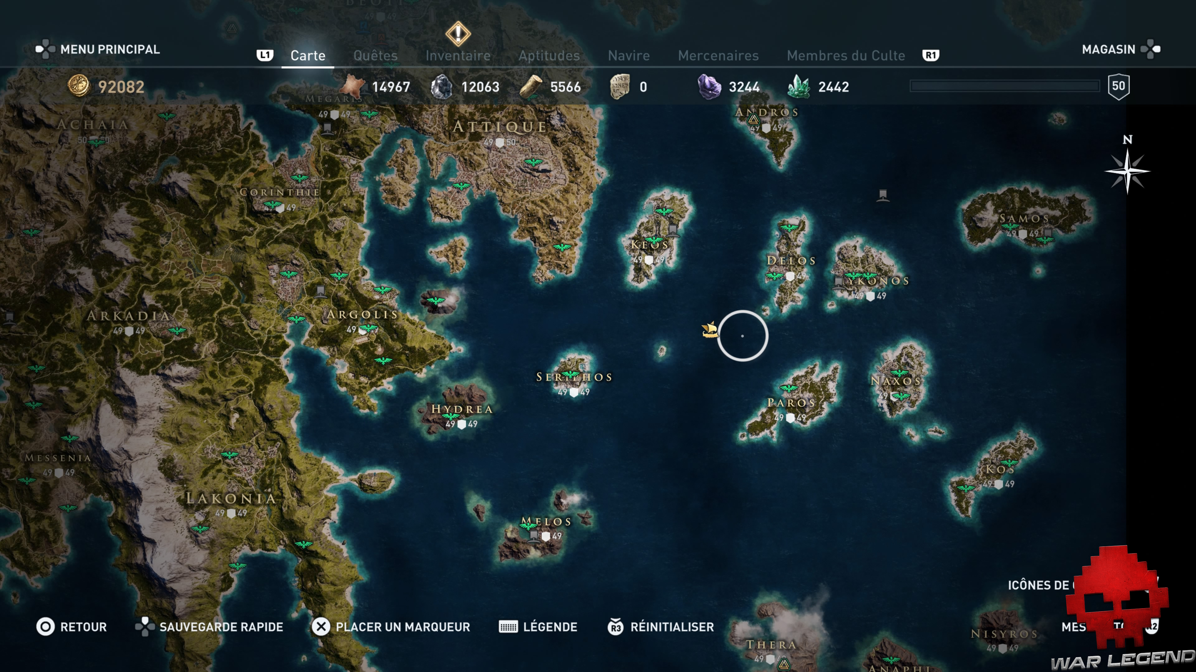 Assassin S Creed Odyssey Karte.Guide Assassin S Creed Odyssey Tous Les Cosmetiques De Navire
