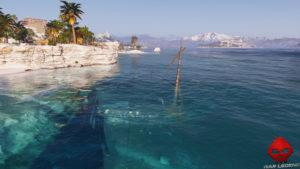 Guide débutant Assassin's Creed Odyssey - Épave sous l'eau