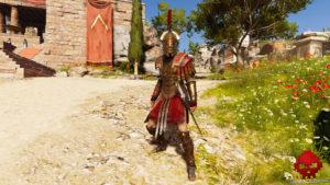 Test Assassin's Creed Odyssey - Kassandra en armure de héros de Sparte