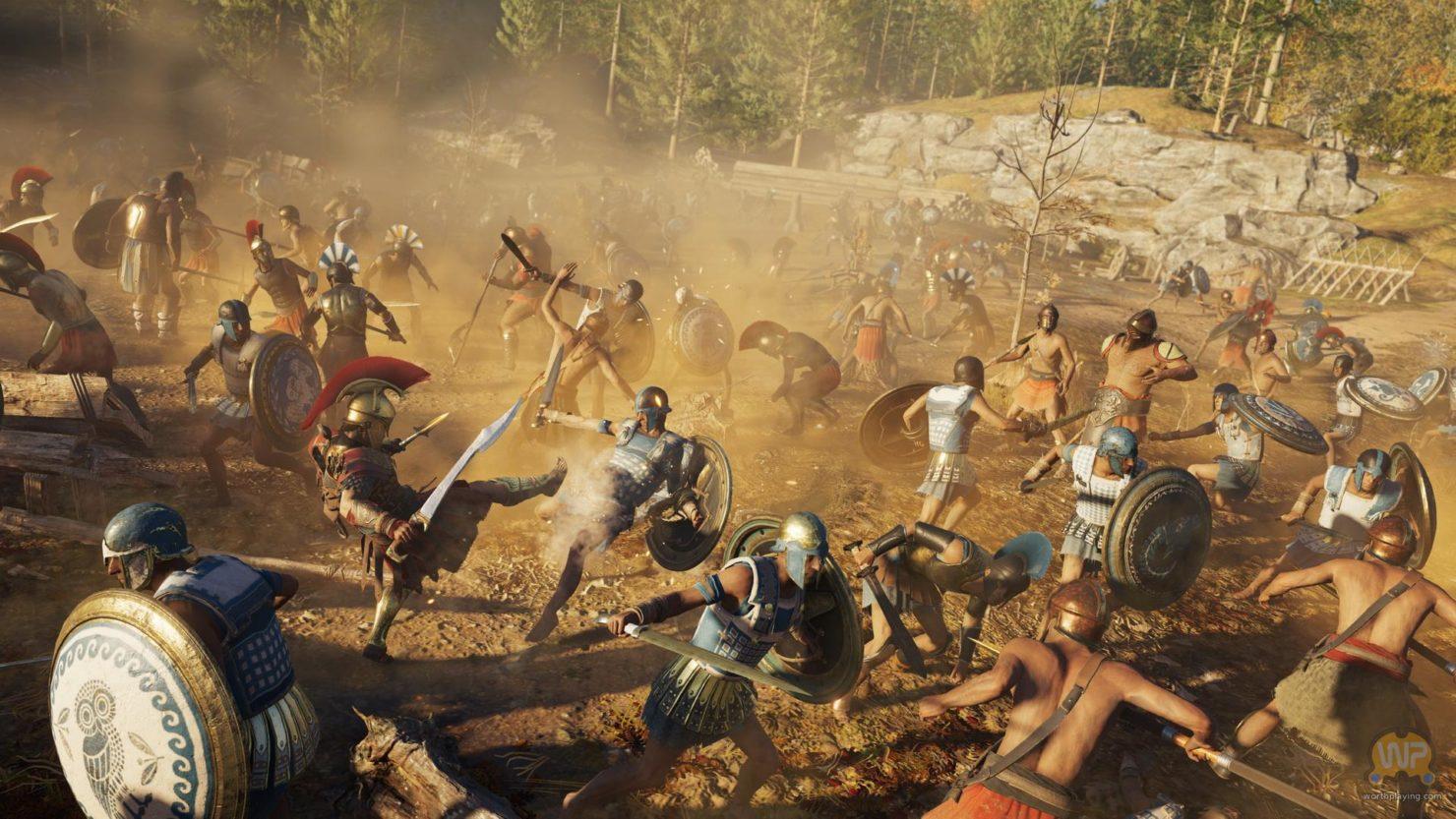 Assassin's Creed Odyssey scène de bataille