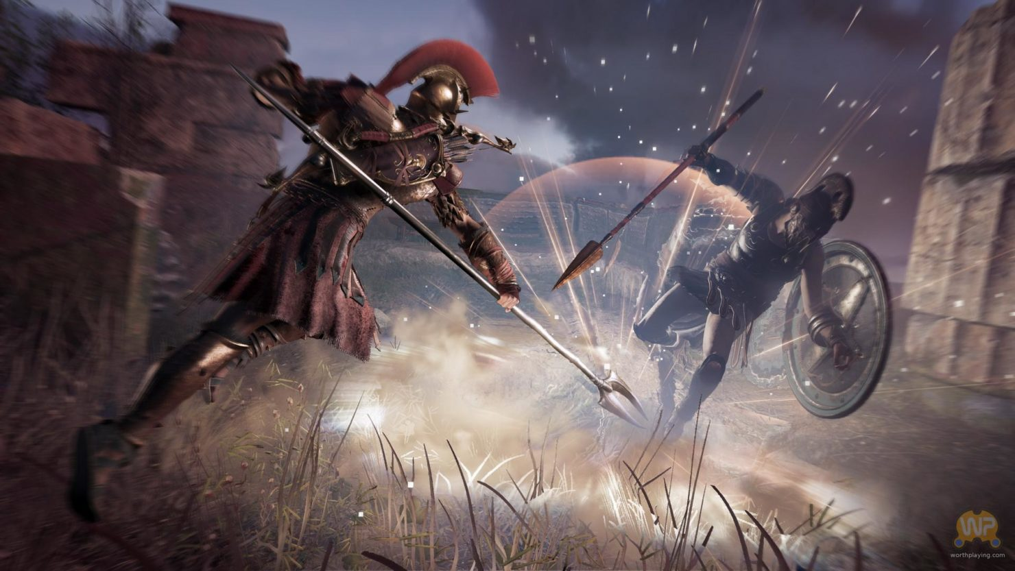 Assassin's Creed Odyssey duel, explosion de force au sol