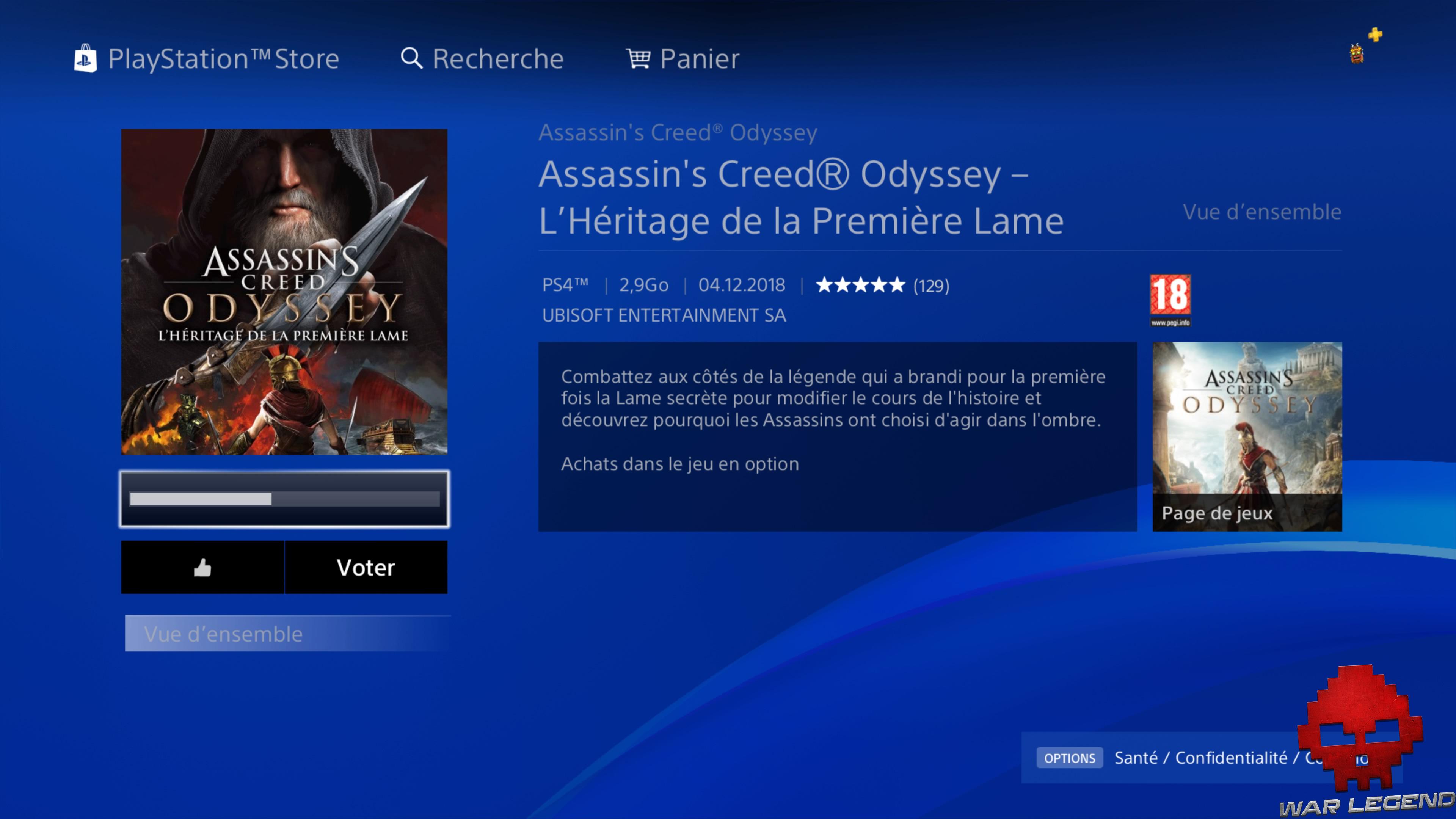 Assassin's Creed Odyssey - L'héritage de la première lame page de téléchargement