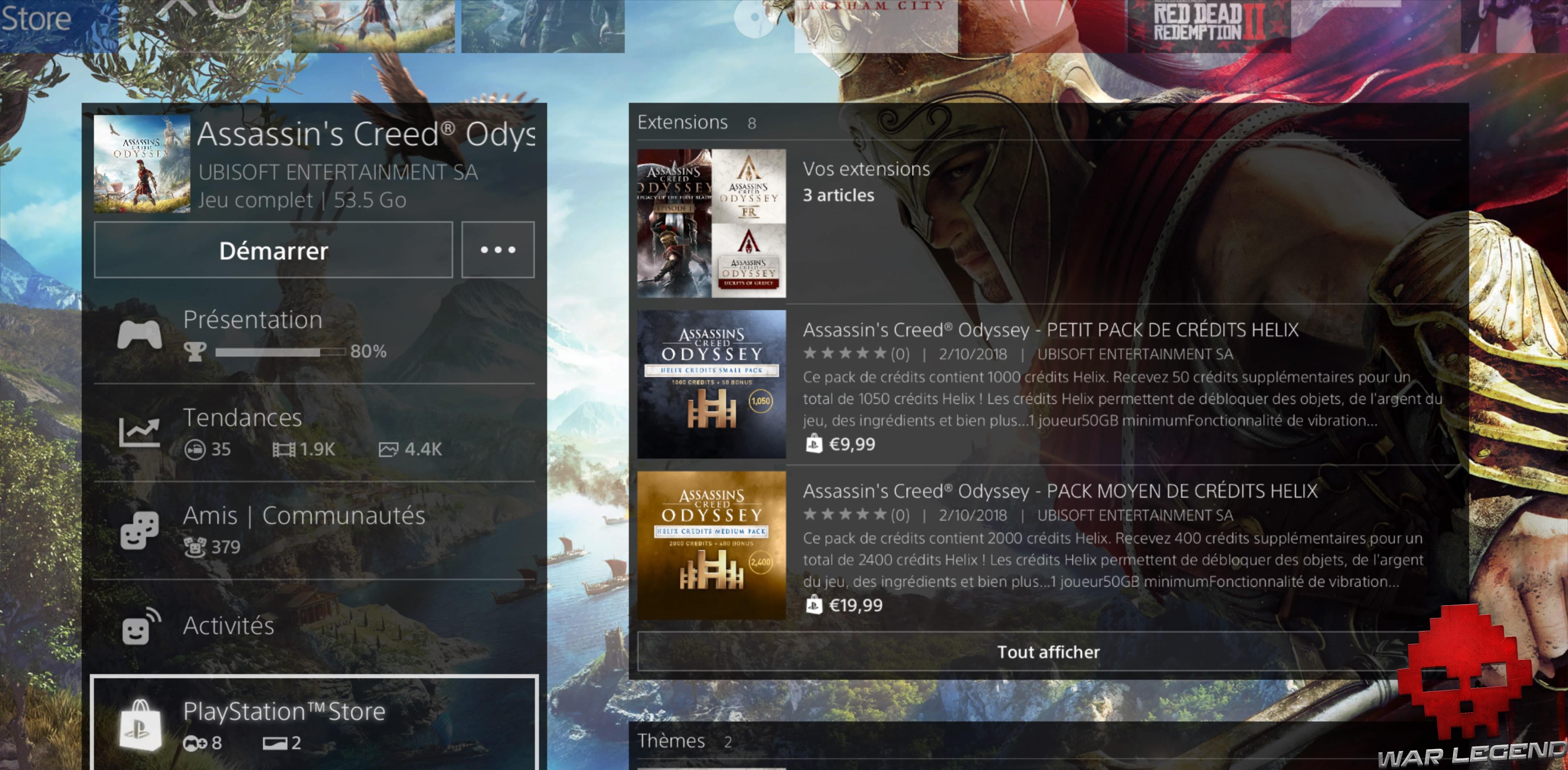 Assassin's Creed Odyssey - L'héritage de la première lame playstation