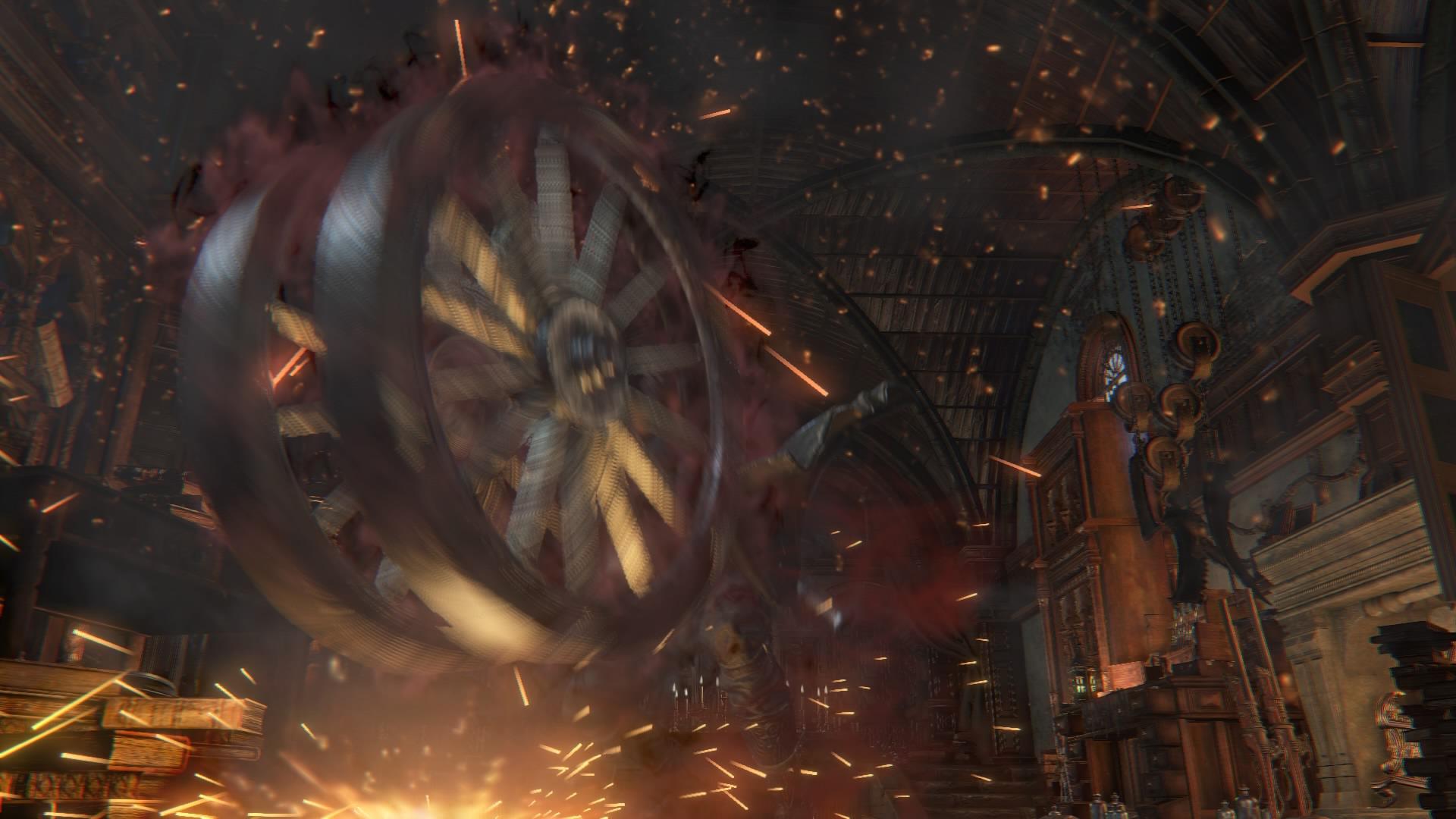 roue de logarius en action bloodborne