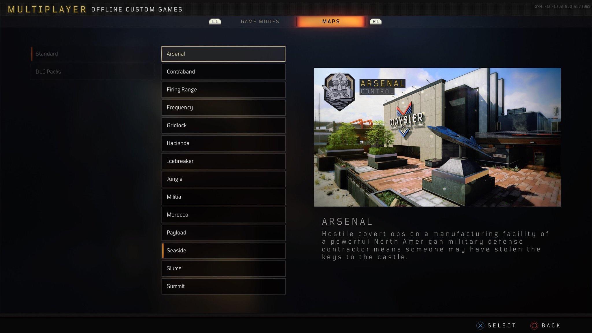 screenshot list cartes Black Ops 4