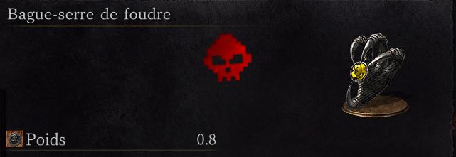 Guide Dark Souls III - Tous les anneaux bague-serre de foudre