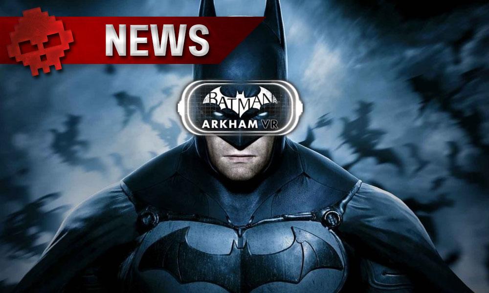 Batman Arkham VR - Le chevalier noir arrive bientôt sur PC - Logo + Batman