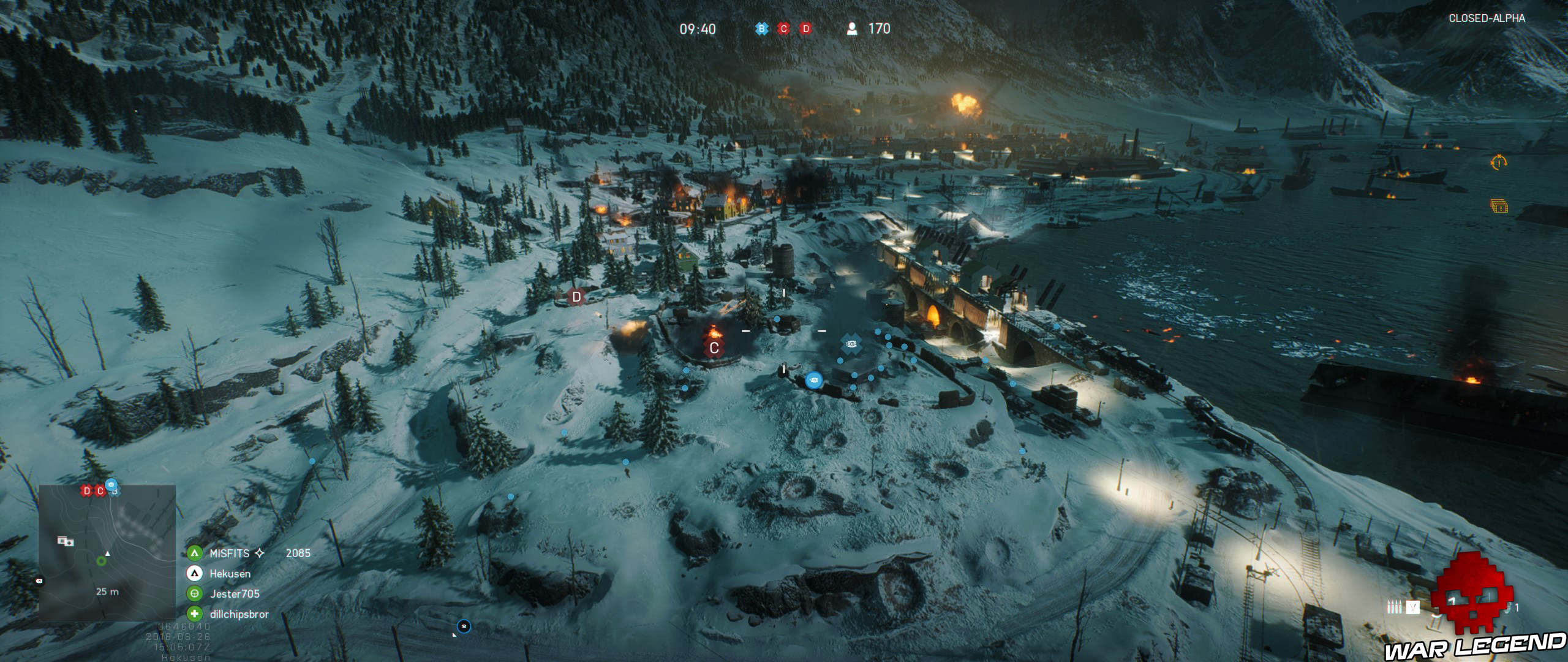 Battlefield V carte en vue aérienne