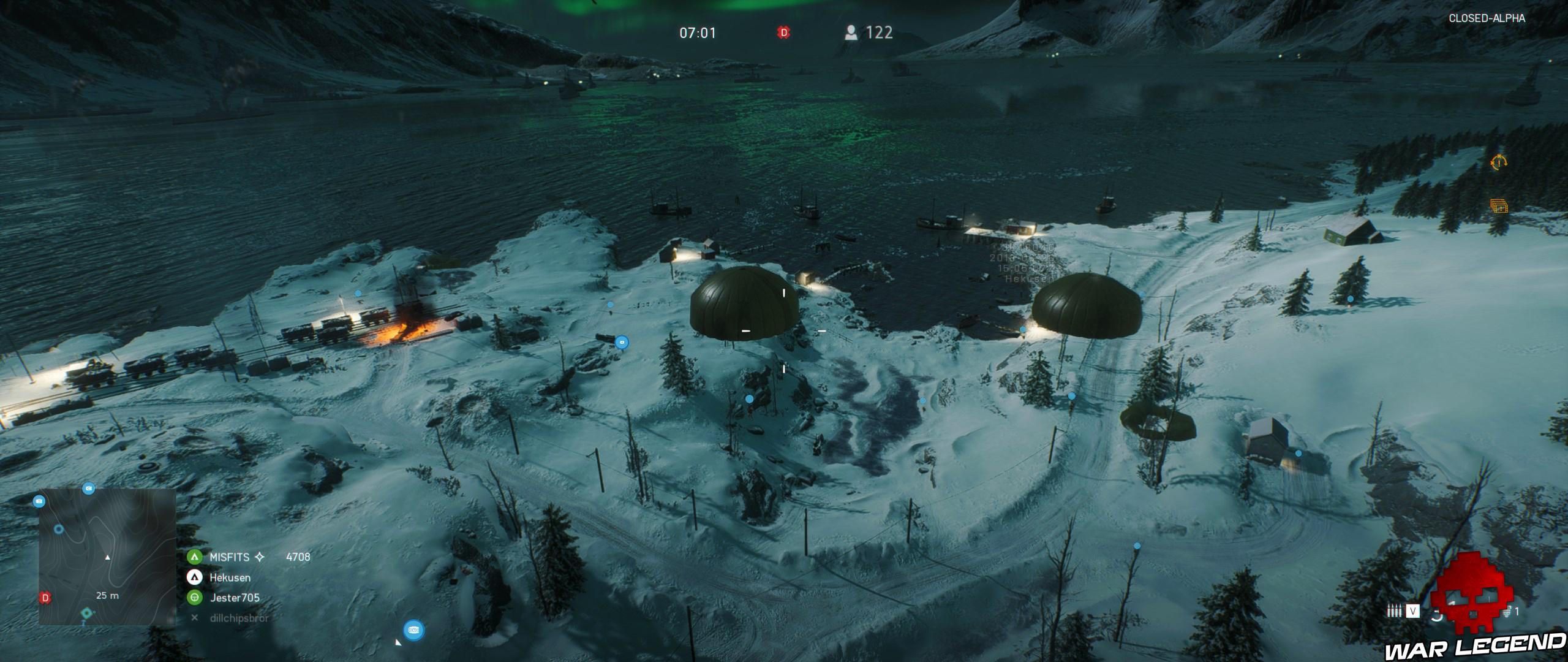 Battlefield V parachutes