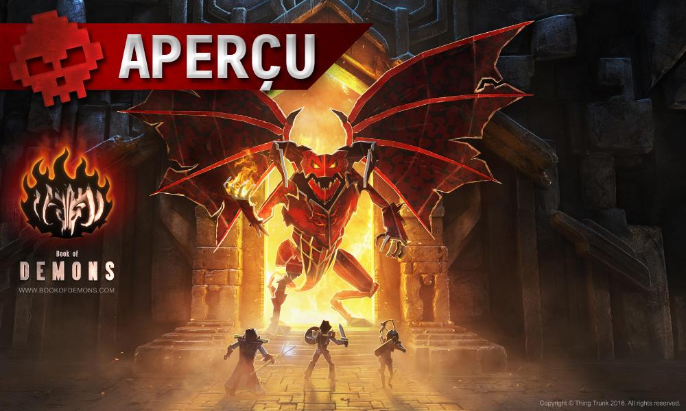 Aperçu Book of Demons trois héros devant boss