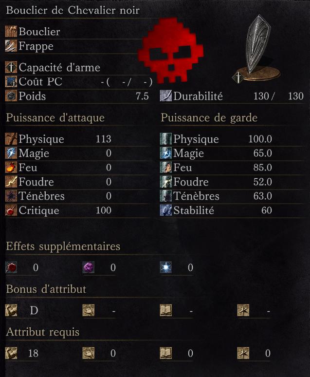 Bouclier de Chevalier Noir