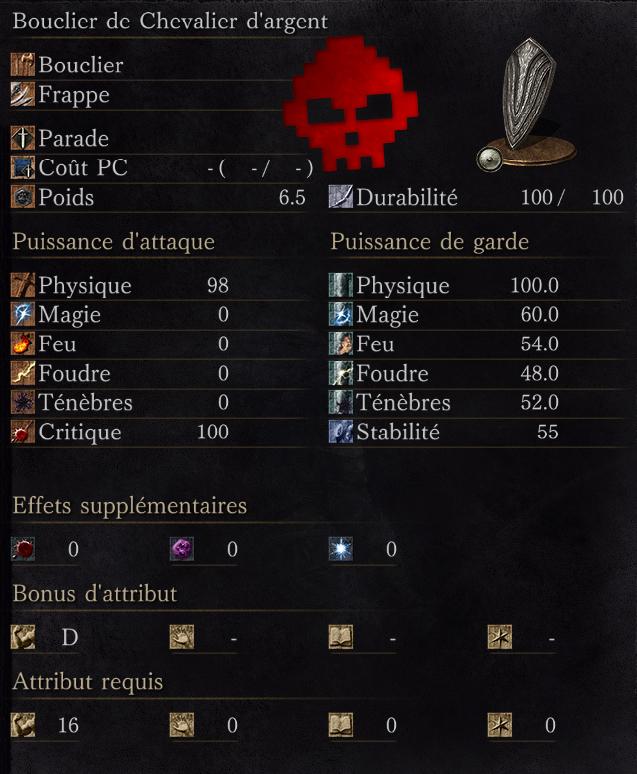 Bouclier de Chevalier d'Argent