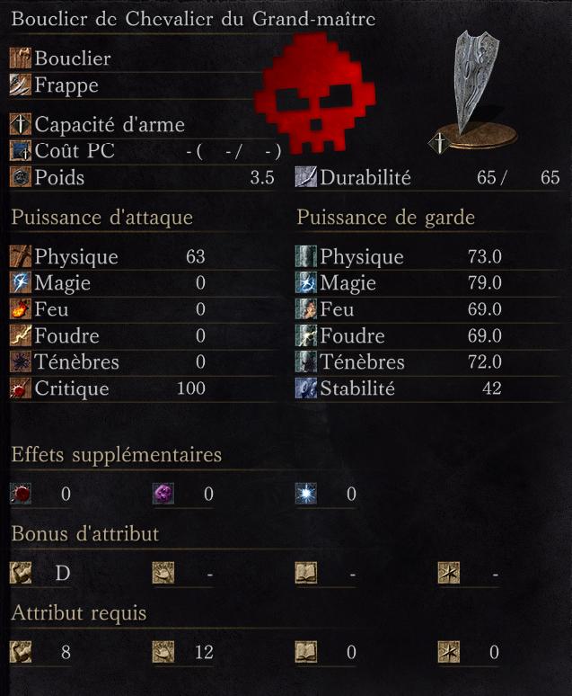 Bouclier de Chevalier du Grand-Maître