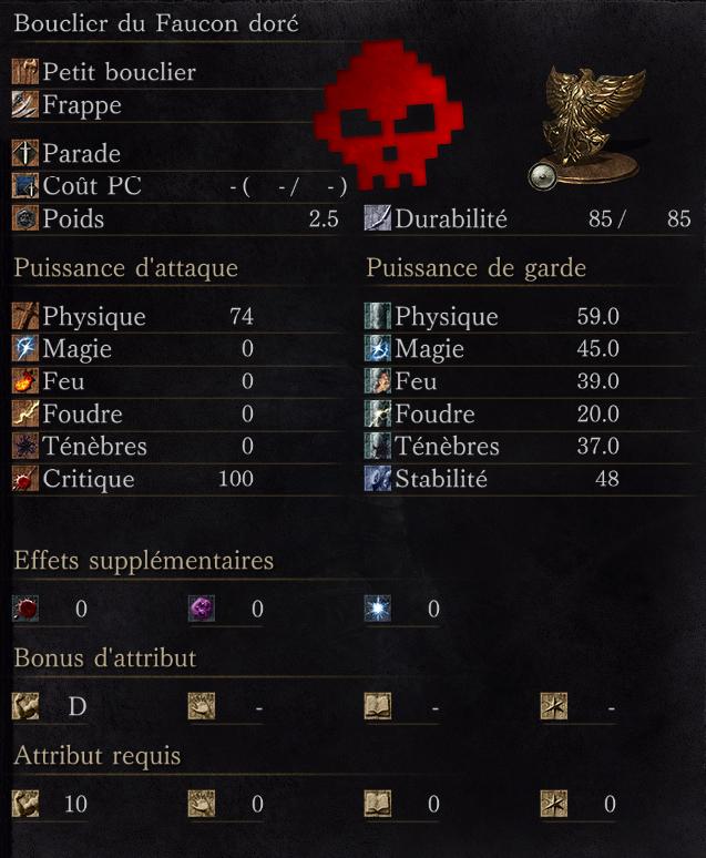 Bouclier du Faucon Doré