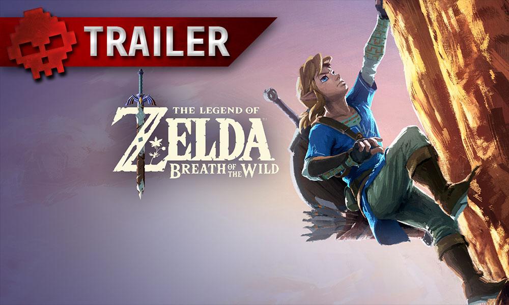 The Legend of Zelda: Breath of the Wild - 3 nouvelles vidéos avant la sortie Link escaladant une montagne