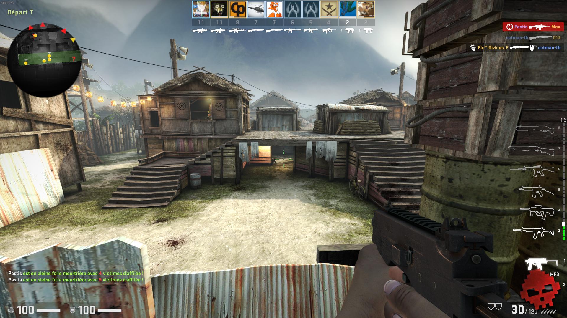 Joueur armé d'un mp7 dans les favelas