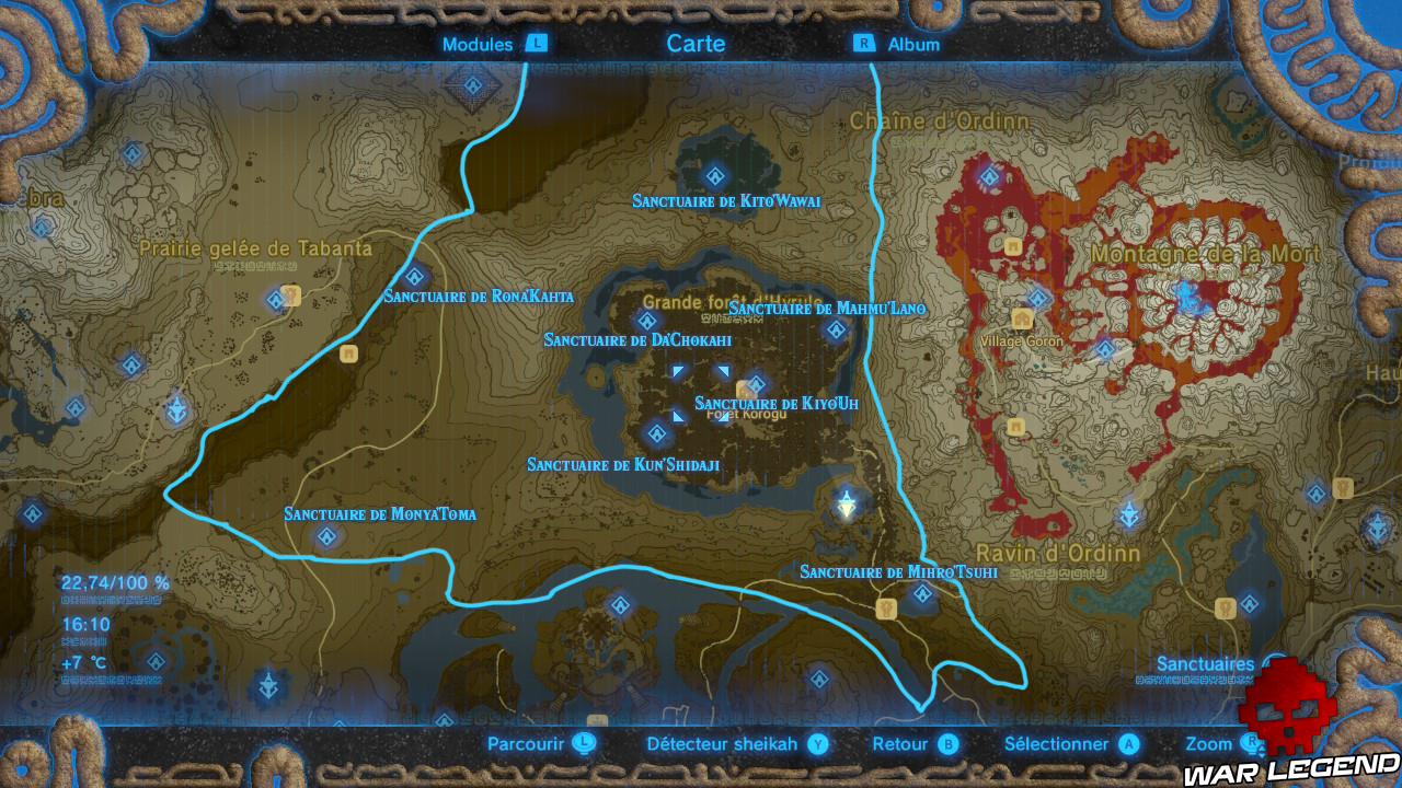 Soluce The Legend of Zelda: Breath of the Wild - Sanctuaires de la région Sylvestre