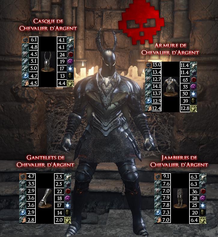 Chevalier d'Argent Dark Souls III WAR LEGEND copie