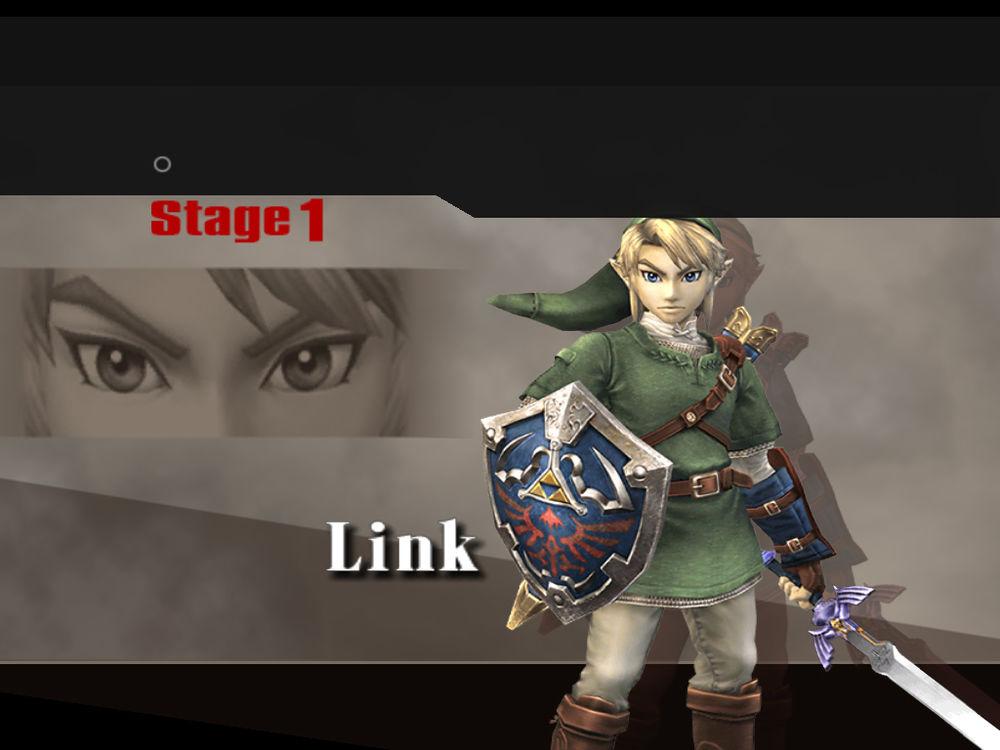Link comme premier adversaire du mode classique de SSBB