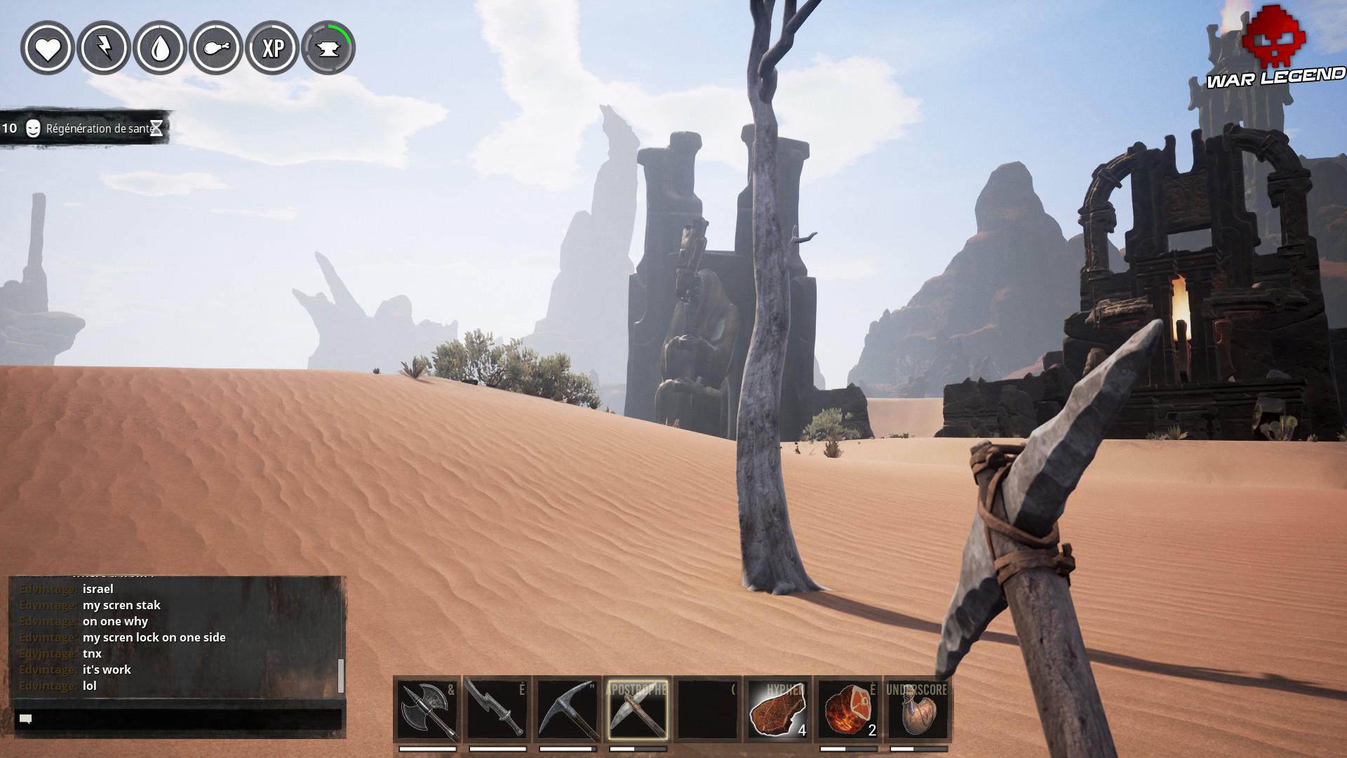 Guide Conan Exiles - Artisanat: détails sur les matériaux standards arbre dans le désert