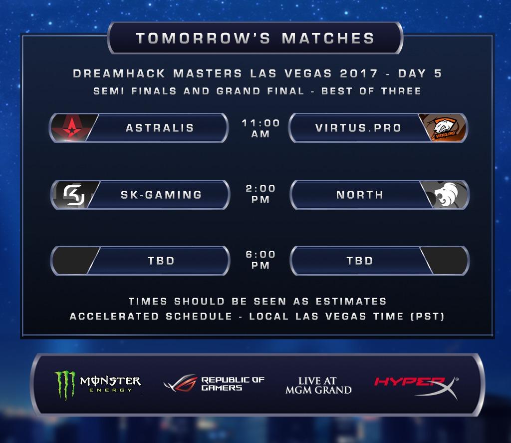 CS: GO - DreamHack Masters Las Vegas: le dernier carré - Les matchs de demain