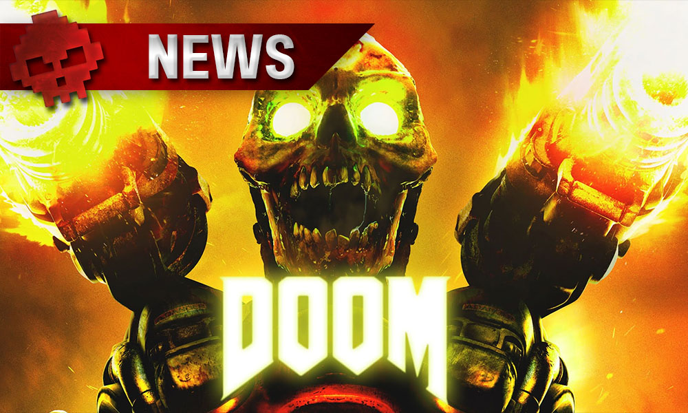 DOOM - Le troisième DLC multijoueur balance du sang en vidéo - Logo et squelette armé