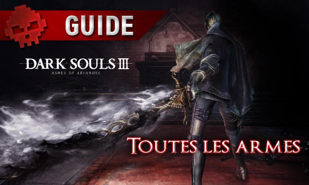 Dark Souls 3: Ashes of Ariandel - Toutes les armes homme de dos épée ténébreuse
