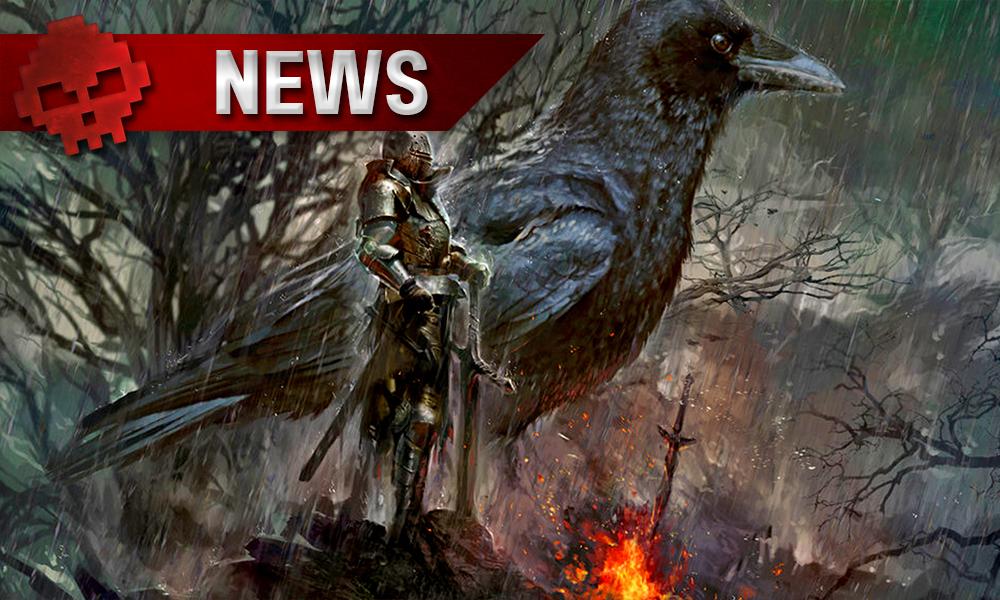 Dark Souls - From Software envisage de porter la trilogie sur Nintendo Switch artwork chevalier devant un feu avec un immense corbeau