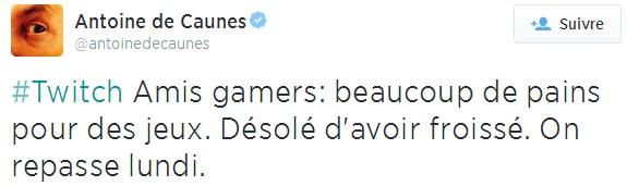 De Caunes C+ excuses