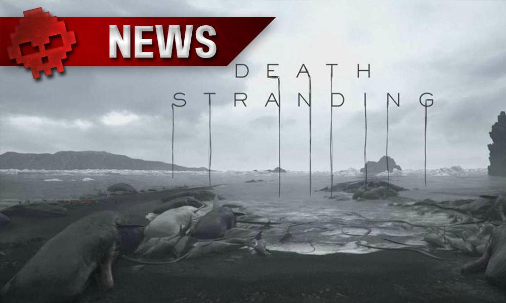 Death Stranding - Le titre ne sera pas présent à l'E3 - logo du jeu + bord de mer ciel gris