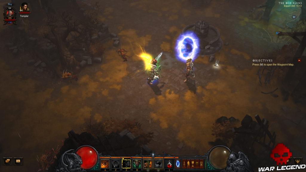 "Diablo III - Accéder au ""remake"" du premier Diablo portail Diablo 1 Tristram"