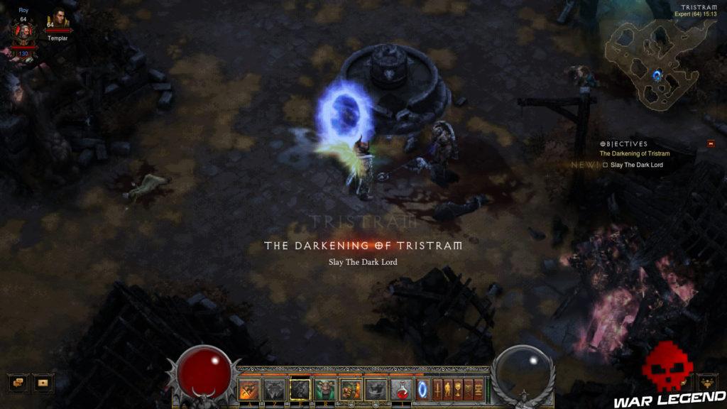 """Diablo III - Accéder au """"remake"""" du premier Diablo portail Diablo 1 Tristram pixelisée"""