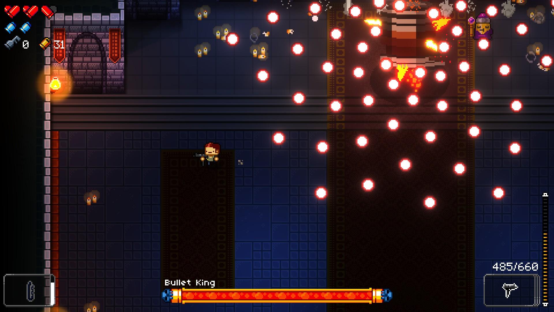 Enter the Gungeon - Combat contre le Bullet King