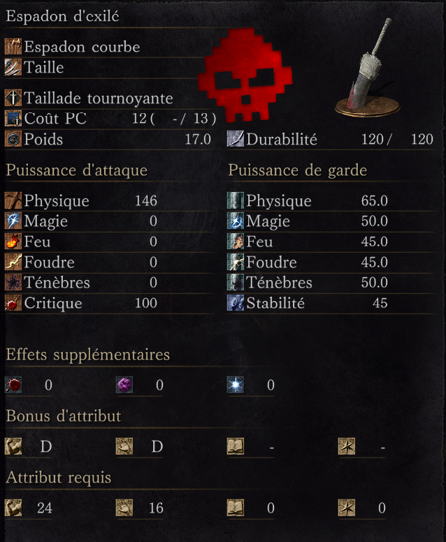 Espadon d'Exilé